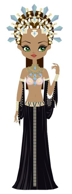Akasha, the Queen of Damned, from Anne Rice& books Anne Rice Books, Caricature, Sugar Scull, Egyptian Party, Costumes Around The World, Voodoo Dolls, Country Crafts, Kokeshi Dolls, Kawaii Art