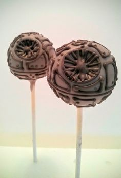 Star Wars Death Star Cake pops by Evie and Mallow