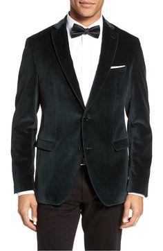 Reman Trim Fit Velvet Dinner Jacket   BOSS                      $695.00