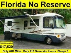 7 DAY NO RESERVE AUCTION – ABSOLUTE SALE – HIGHEST BID WINS!!! Enjoy life. Come to Florida and buy this beautiful low mileage 2000 Holiday Rambler... #motorhome #camper #class #admiral #holiday #rambler #reserve