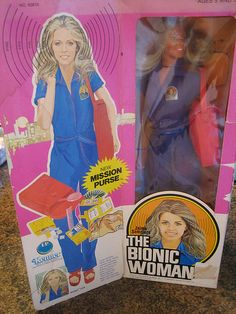 Bionic Woman doll. She had panels on her limbs so you could see she was bionic.