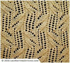 Lace chart no.20 - Easy to follow chart pattern, in an instant!
