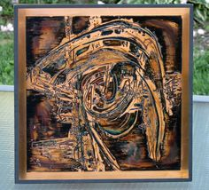 Bernhard Rohne Copper Panel 1970 Art Modern Art by SaleOfEstates, $145.00