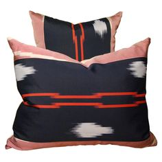 1stdibs - Pair of Vintage Japanese Ikat Pillows explore items from 1,700  global dealers at 1stdibs.com