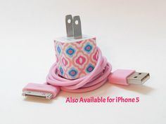 """iPhone Charger Decorated with Personality-Colored USB Cable Included $17.00  Free Shipping for Mother's Day.  Visit our shop and enter """"MothersDay"""" at checkout!"""