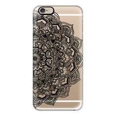 iPhone 6 Plus/6/5/5s/5c Case - Black Lace Mandala ($40) ❤ liked on Polyvore featuring accessories, tech accessories, iphone case, apple iphone cases, iphone cover case and slim iphone case
