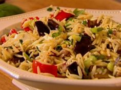 Orzo with Roasted Vegetables! Delish! I used zucchini and squash instead of eggplant