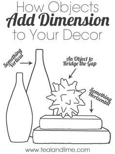 How to use decorative objects to add more dimension to you decor, including my 7 favorite types of decorative objects.