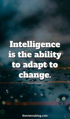La inteligencia es la capacidad de adaptarse al azar
