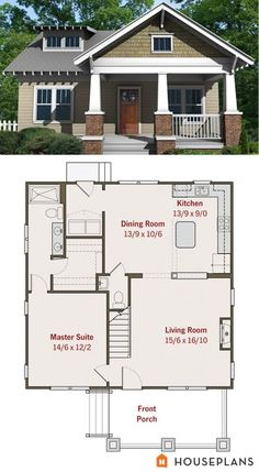 house plan 461 6 craftsman bungalow my gkids are gonna love the - Floor Plans For Small Houses