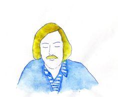 feeling blue #illustration #watercolour   http://dettapini.blogspot.it/2012/06/feeling-blue.html