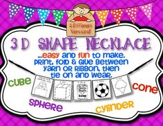 These are the 3D Shapes That I Know! {Math Necklace}. $