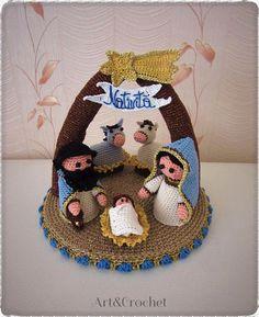 Crochet Wreath, Crochet Deer, Crochet Bear Patterns, Crochet Flowers, Crochet Toys, Christmas Nativity, Christmas Cross, Christmas Angels, Crochet Christmas Decorations