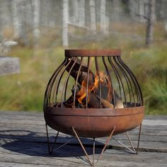 Found it at AllModern - Nida Solid Steel Wood Burning Fire Pit