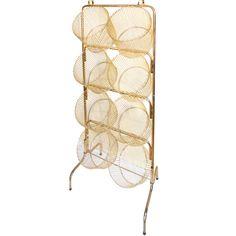 Mid Century Shop Storage Rack with Eight Baskets