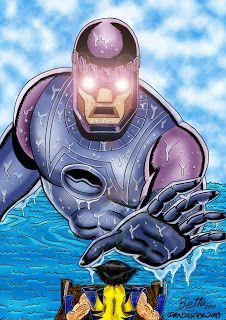 Pradoster: Wolverine e a Sentinela no Photoshop