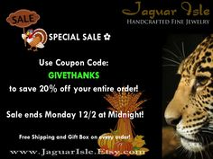 ✿ SPECIAL SALE – Use Coupon Code: GIVETHANKS to save 20% off your entire order! Sale ends Monday 12/2 at Midnight! ✿