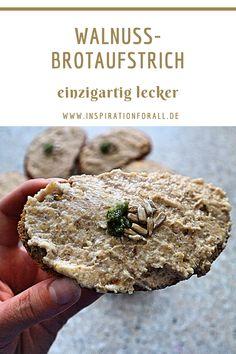 Ich zeige dir, wie du diesen herzhaften Brotaufstrich mit Walnuss, Knoblauch und Schmelzkäse selber machen kannst. Das Rezept ist einfach und schnell. Der Aufstrich ist vegetarisch und schmeckt scharf, würzig, exotisch und sehr lecker. #brotaufstrich #BrotaufstrichVegetarisch #BrotaufstrichHerzhaft #BrotaufstrichEinfach #BrotaufstrichSelbermachen