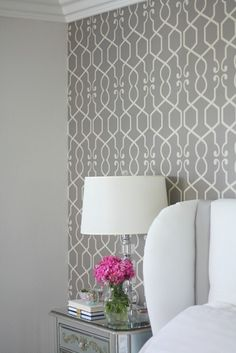 Master Bedroom Redesign {The Wallpaper} - A Thoughtful Place
