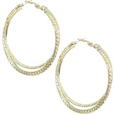 Diamond Dusted Hoop Earring ($6.99) ❤ liked on Polyvore featuring jewelry, earrings, imitation jewelry, diamond earrings, diamond jewelry, fake jewelry and imitation diamond jewelry
