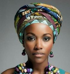 Head wrap styles are awesome for bad hair days, protective styles or just regular glam - check out our gallery of 36 gorgeous head wrap styles African Beauty, African Women, African Fashion, Bad Hair Day, Afrika Tattoos, Style Turban, Pelo Afro, African Head Wraps, Head Wrap Scarf