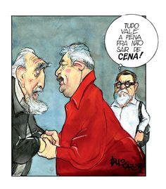 A ILHA REVISITADA  - No encontro entre Lula e Fidel, Fernando Moraes (em pessoa)   relê Fernando Pessoa