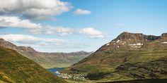Iceland Photo Essay - View of Seyðisfjörður from the road