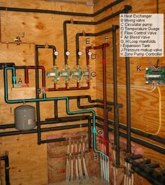 Geothermal Equipment Room photos, at our energy efficient home in Deep Creek Lake, MD