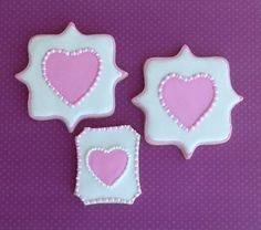 Pink hearts using plaque cookie cutters