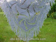 ABC Knitting Patterns - Hexagonal Motif Shawl