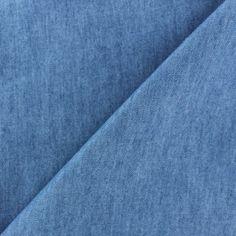 Tissu Jeans fluide uni x 10cm