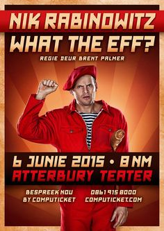Nik Rabinowitz at the Atterbury Theatre in Pretoria on Saturday, 6th June 2015 - book your tickets at Computicket