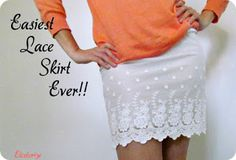 Etcetorize: Easiest Lace Skirt Ever!!