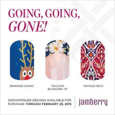"""Discontinued wraps available for purchase through February 28, 2015!! """"Reindeer Games"""" """"Twlight Blossoms Tip"""" """"Vintage Deco"""""""