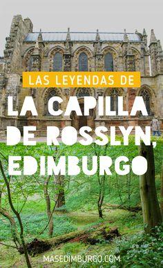 Descubre la Rosslyn Chapel y sus leyendas. Esta capilla es una excursión genial desde Edimburgo y, además de ser conocida como escenario de El Código Da Vinci, esconde un sinfín de misterios. Cómo llegar desde Edimburgo, cómo visitarla y excursión por los bosques vecinos del Roslin Glen.