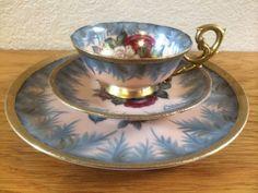 HAND PAINTED TEA Set, Chubu China Tea Set, Hand Painted Bone China Tea Set…