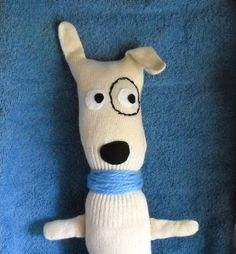 Glove Dog OOAK stuffed toy plush puppy  super  by bluewater607, $24.50