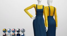 S4 _Overall Skirts / T-Shirt (15 Color)