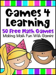 Fun! Engaging! Great math practice! You receive 50 Free math games when you join the Games 4 Learning Club then regular freebies for math and more! These include games for addition, subtraction, multiplication, division, place value, rounding numbers, counting, odd and even, prime and composite, factors, multiples and more! There are also seasonal games. Great for first, second, third, fourth and fifth grades. Fun printable games for the classroom or home learning. Printable Math Games, Free Math Games, Math Board Games, Math Games For Kids, Literacy Games, Fun Math, Math Class, Division Activities, Stem Activities