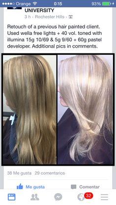 Diy Hairstyles, Pretty Hairstyles, Blond Rose, Hair Color Formulas, Hair Toner, Hair Color Techniques, Hair Painting, Cool Hair Color, Hair Hacks