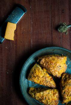 Cheddar Pumpkin Sage Scones | A Cookie Named Desire