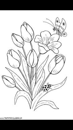 Trendy embroidery flowers pattern coloring pages ideas Pattern Coloring Pages, Flower Coloring Pages, Coloring Book Pages, Printable Coloring Pages, Colouring Pics, Embroidery Flowers Pattern, Flower Patterns, Embroidery Stitches, Hand Embroidery