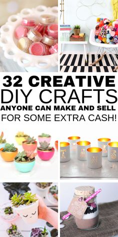 Hot Craft Ideas to Sell - Crafts To Make And Sell From Home 32 Handmade Craft Ideas To Sell. These awesome DIY projects to make and sell are awesome to make money from home. Easy DIY craft projects and crafts for kids and children. Just click through t Diy Craft Projects, Kids Crafts, Diy Projects To Make And Sell, Diy Crafts For Teen Girls, Diy And Crafts Sewing, Upcycled Crafts, Easy Diy Crafts, Handmade Crafts, Handmade Ideas