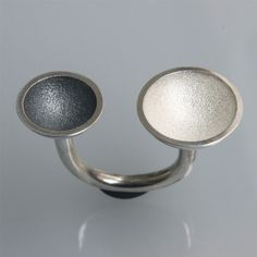 ring 2 cups black & white in oxidized and by andreasschiffler, €48.00