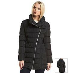 Calvin Klein Asymmetric Wing Collar Down Coat