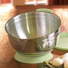 Princess House Stainless Steel 10 qt. mixing bowl with lid and base....HUGE capacity....you will LOVE this item, especially when you earn it FREE with booking credits!   contact me: lindabradley at myprincesshouse dot com