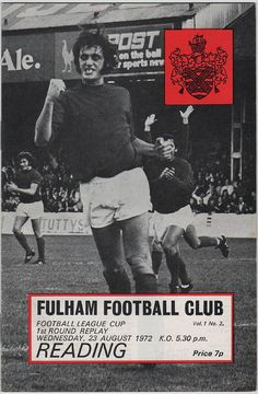 Vintage Football (soccer) Programme - Fulham v Reading, League Cup, season, by DakotabooVintage Football Program, Football Soccer, Manchester City, Manchester United, Reading Fc, Fulham Fc, Vintage Men, Vintage Gifts, Etsy Vintage