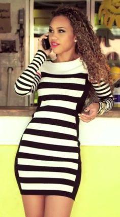 stripe sweater dress | Keep the Glamour | BeStayBeautiful