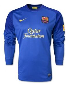 Portero del Barcelona 2013/2014 manga larga azul [013] - €16.87 : Camisetas de futbol baratas online!  http://www.8minzk.com/f/Camisetasdefutbol/