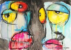 LUZ Twoboppers 2012 € 700 #arteonlineshop #art #pittura #Luz